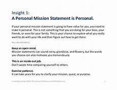 Examples Of Personal Mission Statements For Career 1 1 What Is A Personal Mission Statement