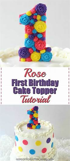 3 diy first birthday cake toppers for girls i scream for