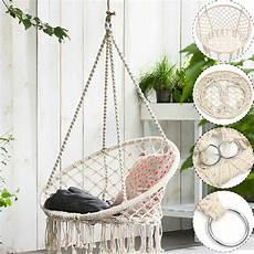 macrame swing beige hanging cotton rope macrame hammock chair swing