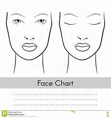 Brown Face Chart Blank Vector Woman Face Chart Portrait Female Face With Open