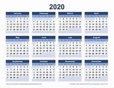 Vertex42 Calendar 2020 Download A Free Printable 2020 Yearly Calendar From