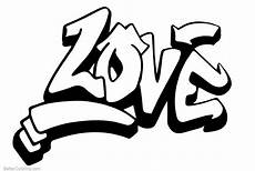 graffiti letters coloring pages free printable