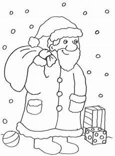 Malvorlage Nikolaus Mit Sack Kostenlose Malvorlage Advent Nikolaus Im Schnee Zum Ausmalen