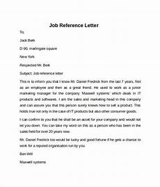 Reference Letter Sample For Job Free 7 Job Reference Letter Templates In Pdf