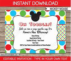 Mickey Mouse Party Invitations Free Mickey Mouse Party Invitations Template Birthday Party