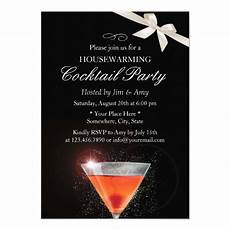 Cocktail Party Invitation Elegant Ivory Ribbon Housewarming Cocktail Party