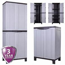 strong outdoor plastic storage utility cabinet garden tool