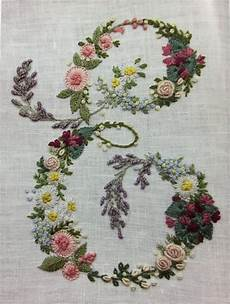 floral monogram embroidery embroidery