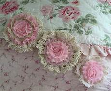 shabby chic fabric flowers cottage chic by shabbychicloft