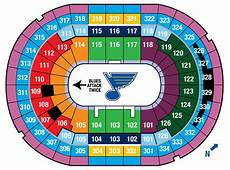 St Louis Blues Seating Chart View Scottrade Center Seat Locator