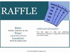 Raffle Wording Party And Event Flyers