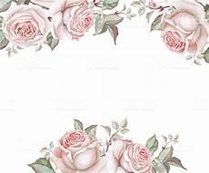 cornice di fiori cornice con fiori acquerello immagini vettoriali