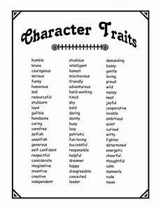 A List Of Characteristics Character Traits Pdf Teaching Literature Circle