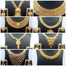 22k Gold Indian Jewellery Designs Indian 22k Gold Plated Wedding Necklace Earrings Jewelry