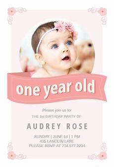 Baby Birthday Party Invitations 1st Birthday Invitation Templates Free Greetings Island