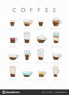kaffe plakat plakat kaffee flach stockvektor 169 anna42f 181226480