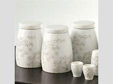 Ceramic Tea Coffee Sugar Jars Canister Set of 3 Kitchen Storage Pots   Tea coffee sugar jars