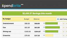 Simple Budgeting Tool Spendbrite Is A Quick And Simple Budgeting Tool