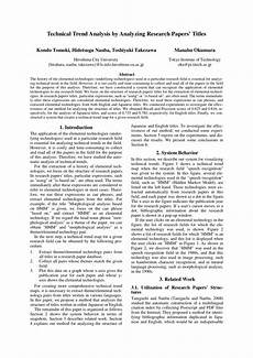 Reserach Paper Pdf Technical Trend Analysis By Analyzing Research