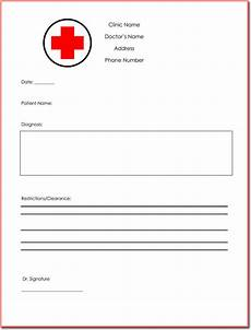 Dr Note Templates Free Doctor S Note Templates 28 Blank Formats To Create