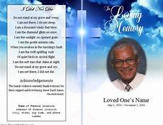 Free Printable Memorial Templates Single Fold Cross Memorial Program Funeral Program