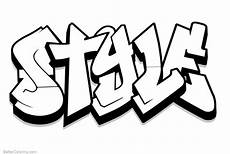 graffiti coloring pages letters style free printable