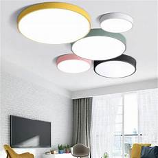 Norma Modern Led Ceiling Light Led Ceiling Lamps Ultra Thin 5cm Multi Color Simplified