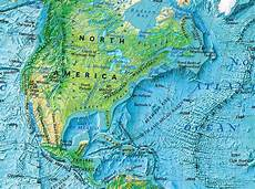Geographic Map North America National Geographic Society