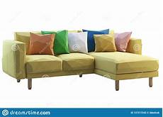 Air Sofa Yellow Blue 3d Image by Modern Low Poly Yellow Fabric Sofa With Colored Pillows