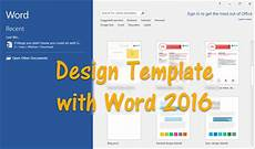 Microsoft Word Layout Templates How To Design Template With Word 2016 Wikigain