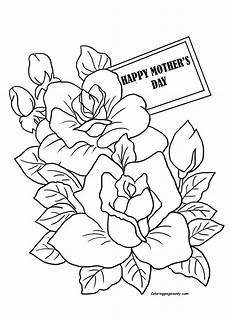 mothers day coloring page cards page coloring page free
