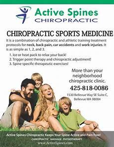 Chiropractic Flyers Bellevue Chiropractor Active Spines Chiropractic Blog