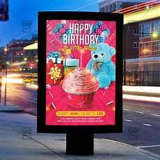 Party Flyer Size Kids Birthday Party Premium Flyer Template Instagram