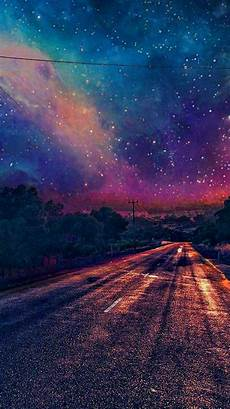 iphone wallpaper colourful galaxy view from road wallpaper iphone wallpaper