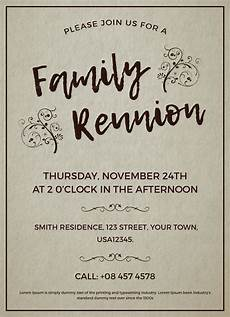 Family Reunion Flyers Templates Family Reunion Invitation Design Template In Word Psd