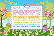 Garden Party Invites Garden Party Invitations 10 Personalised Bunting