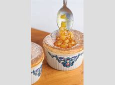 Passion Fruit Souffle with Caramelized Pear Passion Fruit Sauce Recipe