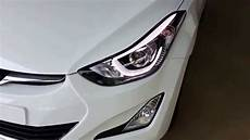 Hyundai Elantra Light Removal Hyundai Elantra 2016 Official Led Headlamp Hd Video Youtube