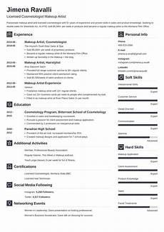 Sample Makeup Artist Resume Makeup Artist Resume Sample For 2020 Guide Amp Examples