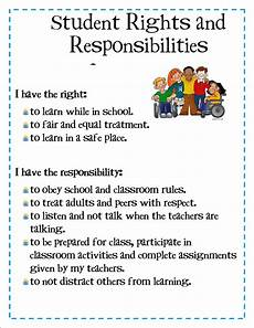 Student Rights And Responsibilities Hootin N Hollerin In 4th Grade