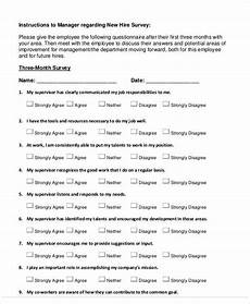 New Hire Orientation Surveys Free 60 Sample Survey Forms In Ms Word Pdf