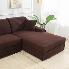 brown stretch elastic sofa cover solid non slip soft
