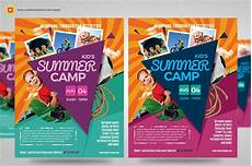 Summer Camp Pamplets Kids Summer Camp Flyer V3 Flyer Templates Creative Market