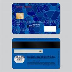 Credit Card Sample Realistic Detailed Credit Card On Both Sides The Sample