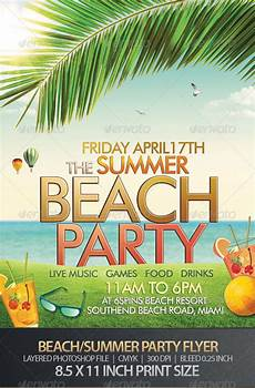 Beach Party Flyer Template Free 160 Free And Premium Psd Flyer Design Templates Print