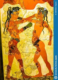 ancient boxers children fresco national archaeological