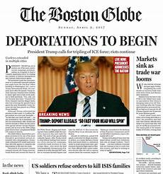 News Article Examples Us Newspaper Publishes Fake President Trump Front Page