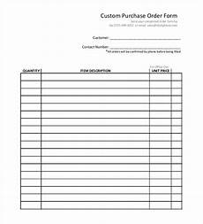 Generic Order Form 54 Purchase Order Examples Pdf Doc Free Amp Premium