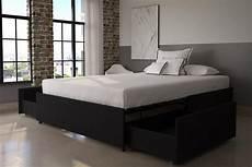 maven platform bed with storage dhp furniture