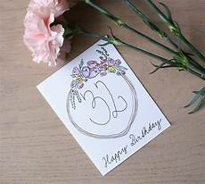 Water Color Cards Watercolor Birthday Card With A Floral Motif 183 How To